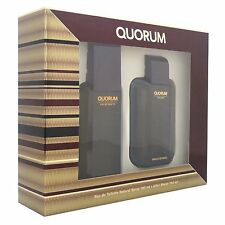 ANTONIO PUIG QUORUM 100ML EDT SPRAY + 100ML AFTERSHAVE BRAND NEW & BOXED