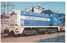 POSTCARD US TRAIN - CHICAGO WEST PULLMAN & SOUTHERN