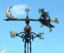 Weathervane Witch & Moon Weather Vane Lightning Rod SHIPS FREE