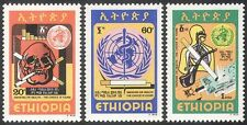 Ethiopia 1980 Health/Medical/Anti-Smoking/Skull/Welfare 3v set (n28424)