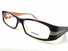 Prada VPR12H 12H Eyeglasses Black Mango 2BX-1O1 51mm Authentic with Case