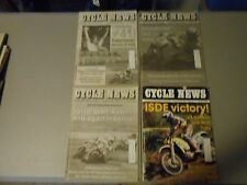 LOT OF 4 SEPTEMBER 1991 CYCLE NEWS MOTORCYCLE NEWSPAPERS,RAINEY,PARKER WINS INDY
