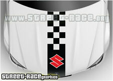 Bs1103 SUZUKI COFANO RACING strisce grafica Decalcomanie Adesivi Logo SWIFT