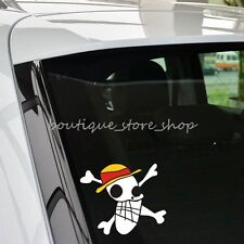 New Funny One Piece Luffy hat Skull decorative cartoon Truck Car Stickers Decal