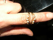 14k Yellow Gold Vintage 1980's Diamond Wedding Ring Guard Wrap or insert 14kt