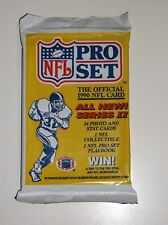 1-1990 Unopened Pack Pro Set NFL Series II Football Photo and Stat Cards~NOS