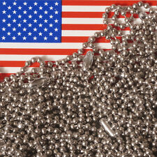 """Lot of 10 Stainless Steel 30"""" Ball Chain Necklaces, 2.4mm #3 Bead, MADE IN USA"""