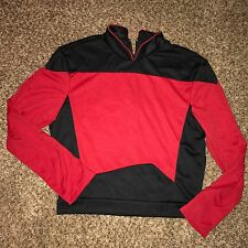 Md Adult Star Trek The Next Generation Red Shirt Costume Zip Up Back