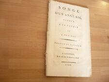 PLAQUETTE 1793 SONGE D'UN ANGLAIS FIDELE A SA PATRIE ET A SON ROI / ORIGINALE