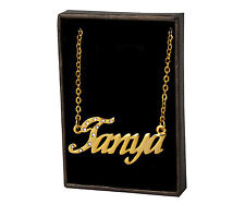 """Name Necklace """"TANYA"""" - 18ct Gold Plated - Stylish Gifts For Her Personalised"""