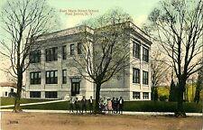 Ten Children Pose in Front of the East Main Street School, Port Jervis NY