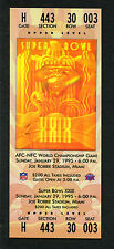 Super Bowl XXIX full unused ticket 49ers Chargers Near Mint Joe Robbie Stadium