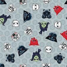 Fat Quarter Angry Birds Star Wars Grey Cotton Quilting Fabric 73300106