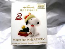 2012 Hallmark Miniature WINTER FUN WITH SNOOPY #15 IN THE SERIES Peanuts