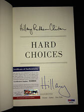 """HILLARY CLINTON PRESIDENTIAL Signed/Auto Book 2014""""HARD CHOICES"""" 16 Campaign PSA"""