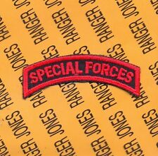 US Army SPECIAL FORCES Legacy Motorcycle RED C/E tab arc patch