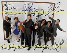 CASTLE FULL CAST AUTOGRAPHED 8x10 RP PHOTO BY 8 NATHAN FILLION STANA KATIC +