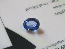 Super Eye Clean Certified 1.35 Carat Oval Cut Blue Ceylon Sapphire.