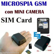 MICROSPIA GSM SPIA AUDIO VIDEO INTERCETTAZIONE   AMBIENTALE CIMICE MICRO-SD X009
