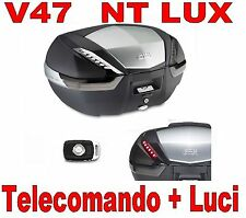 BAULETTO SUITCASE GIVI V47NT LUX+REMOTE CONTROL OPENING+KIT LIGHTS E132 + E135