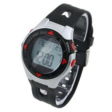 Waterproof Pulse Heart Rate Monitor Stop Watch Calories Counter Sports Fitness B
