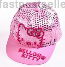 New Kids Girls Kitty Snapback Baseball Cap Hat Adjustable Gift Accessory