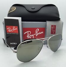 New Ray-Ban Polarized Sunglasses Aviator Large Metal RB 3025 003/59 Silver /Grey