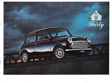 Rover Mini Thirty Special Edition Original UK Sales Brochure circa 1989