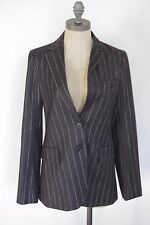Theory brown stripe wool 2 piece suit blazer & pants womens size 6