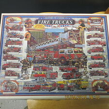 History of American Fire Trucks Puzzle, 1,000 Pcs, 2002, White Mountain