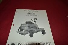 Wheel Horse A-65 Electric Riding Mower Parts Book Manual BVPA