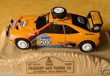 PEUGEOT 405 TURBO 16 PARIS DAKAR 1990 VATANEN BERGLUND 1/43 NOREV M6 COLLECTIONS