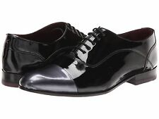New TED BAKER Archeey BLACK Patent Leather Contrast Toecap Oxford Mens Shoes 11