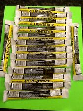 25 Yellow Glow Stick Lot Disaster Survival Earthquake Hurricane USA made Rescue