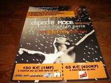 DEPECHE MODE 1 NIGHT IN PARIS!!!!!!!!!!FRENCH PRESS/KIT