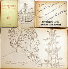 SURREALISME/MASSON/ENTRETIENS AVEC G.CHARBONNIER/JULLIARD/1958/ENVOI/H. PARISOT