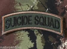 SUICIDE SQUAD ARMY TAB ROCKER TACTICAL USA MILITARY MORALE FOREST VELCRO PATCH