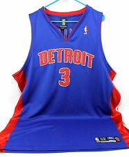 #3 BEN WALLACE Detroit Pistons Blue Stitched NBA Basketball Jersey Reebok Men 52
