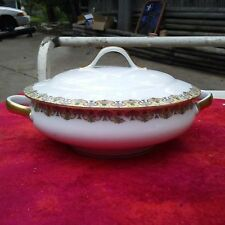Antique  Wm Guerin & Co Limoges France Covered Vegetable Casserole Dish Bowl