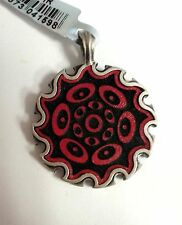 Bico Australia Red Fine Leather Inserts Pendent LL11R