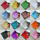 "10/50/100 12"" Square Satin Cloth Napkin or Pocket Handkerchief Color U Pick"