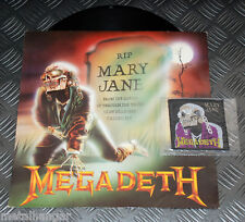 """Megadeth 'Mary Jane' 3-track 12"""" Maxi UK '88 ORG Rare OOP + Free Patch VG+ Must"""