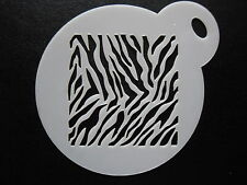 Laser cut small zebra pattern design cake,cookie,craft & face painting stencil