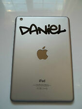 Apple iPad Mini Personalised Name Sticker Graffiti 2 Font Tablet Vinyl Decal