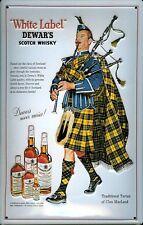 Blechschild Dewar s Scotch Whisky Dudelsackpfeifer Schild Dudelsack Werbeschild