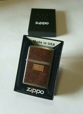Accendino, Lighter ZIPPO originale, modello 1951 LEATHER WRAP , Briquet
