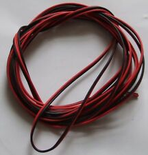 5 METRES of TWIN BLACK / RED .75mm sq CABLE SOLAR POWER AUTOMOTIVE CAMPER VAN