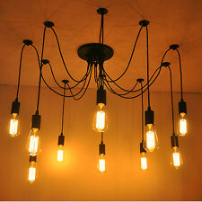 Retro Pendant Lamp Chandelier Ceiling Lights Edison Style Industrial Home DIY