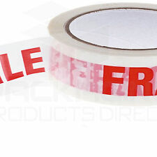 12 Rolls of Printed FRAGILE Tape 48mm x 66m XTHRANE PLASTIC