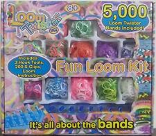 Loom Twister ~ Fun Loom Kit Bracelet Maker ~ 5000 Bands, 200 S-Clips, 3 Hooks